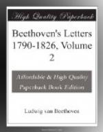 Beethoven's Letters 1790-1826, Volume 2 by Ludwig van Beethoven