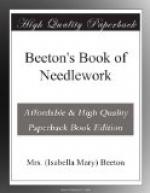 Beeton's Book of Needlework by Mrs Beeton