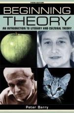 Beginning Theory: An Introduction to Literary and Cultural Theory by Peter Barry