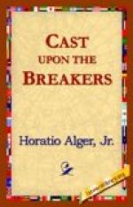 Cast Upon the Breakers by Horatio Alger, Jr.
