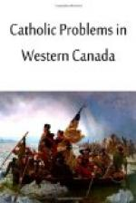 Catholic Problems in Western Canada by
