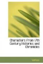 Characters from 17th Century Histories and Chronicles by