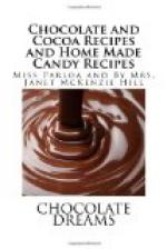 Chocolate and Cocoa Recipes and Home Made Candy Recipes by