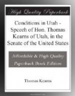 Conditions in Utah by Thomas Kearns