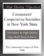 Consumers' Cooperative Societies in New York State by