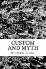 Custom and Myth by Andrew Lang