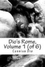 Dio's Rome, Volume 1 (of 6) by Dio Cassius