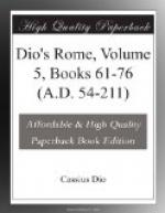 Dio's Rome, Volume 5, Books 61-76 (A.D. 54-211) by Dio Cassius