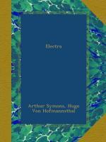 Electra by Hugo von Hofmannsthal