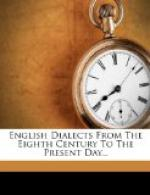 English Dialects From the Eighth Century to the Present Day by Walter William Skeat