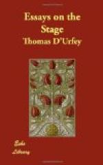 Essays on the Stage by Thomas d'Urfey