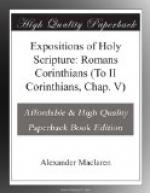 Expositions of Holy Scripture: Romans Corinthians (To II Corinthians, Chap. V) by