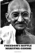 Freedom's Battle by Mahatma Gandhi