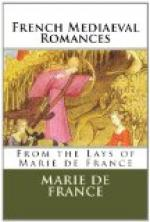 French Mediaeval Romances from the Lays of Marie de France by Marie de France
