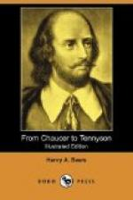 From Chaucer to Tennyson by