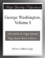George Washington, Volume I by Henry Cabot Lodge