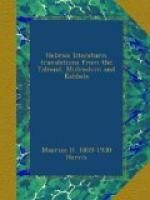 Hebraic Literature; Translations from the Talmud, Midrashim and by
