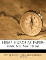 Hemp Hurds as Paper-Making Material by