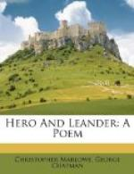 Hero and Leander (poem) by Christopher Marlowe