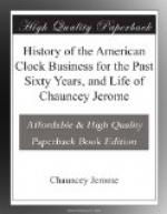 History of the American Clock Business for the Past Sixty Years, and Life of Chauncey Jerome by Chauncey Jerome