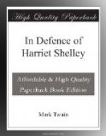 In Defence of Harriet Shelley by Mark Twain