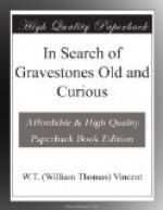 In Search of Gravestones Old and Curious by