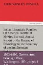 Indian Linguistic Families Of America, North Of Mexico by John Wesley Powell