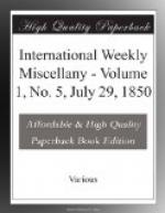 International Weekly Miscellany - Volume 1, No. 5, July 29, 1850 by