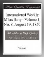 International Weekly Miscellany - Volume 1, No. 8, August 19, 1850 by