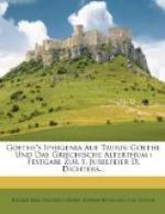 Iphigenia in Tauris (Goethe) by Johann Wolfgang von Goethe