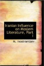 Iranian Influence on Moslem Literature, Part I by