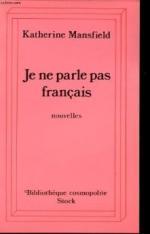 Je ne parle pas francais by Katherine Mansfield