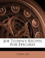 Joe Tilden's Recipes for Epicures by