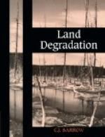 Land degradation by