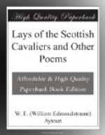 Lays of the Scottish Cavaliers and Other Poems by