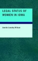 Legal Status of Women in Iowa by
