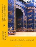 Legends of Babylon and Egypt in relation to Hebrew tradition by