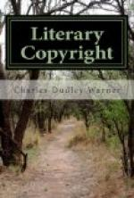 Literary Copyright by Charles Dudley Warner