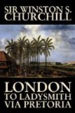 London to Ladysmith via Pretoria by Winston Churchill