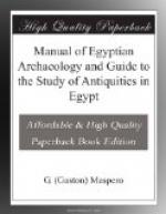 Manual of Egyptian Archaeology and Guide to the Study of Antiquities in Egypt by Gaston Maspero