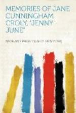 "Memories of Jane Cunningham Croly, ""Jenny June"" by"