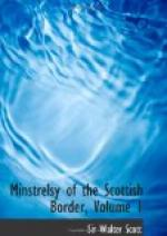 Minstrelsy of the Scottish border, Volume 1 by Walter Scott