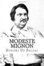 Modeste Mignon by Honoré de Balzac