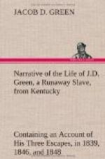 Narrative of the Life of J.D. Green, a Runaway Slave, from Kentucky by