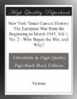 New York Times Current History: The European War from the Beginning to March 1915, Vol 1, No. 2 by