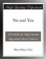 No and Yes by Mary Baker Eddy
