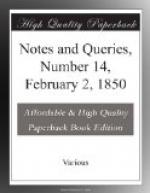 Notes and Queries, Number 14, February 2, 1850 by