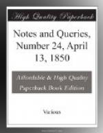 Notes and Queries, Number 24, April 13, 1850 by
