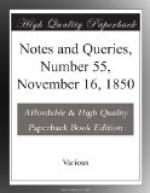Notes and Queries, Number 55, November 16, 1850 by