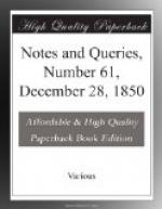 Notes and Queries, Number 61, December 28, 1850 by